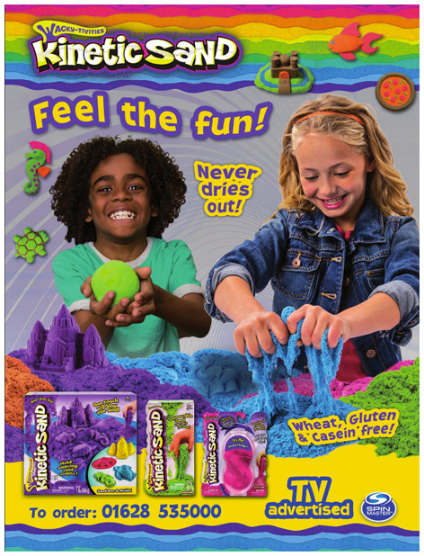 Trade advert for Kinetic Sand