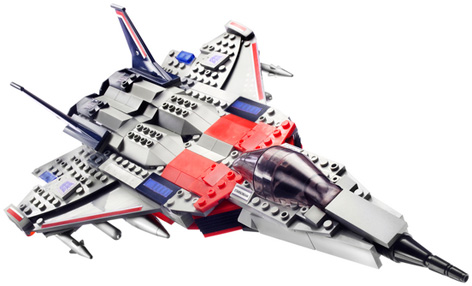 A Kre-O Construction Toy of the Transformers Starstream Spaceship