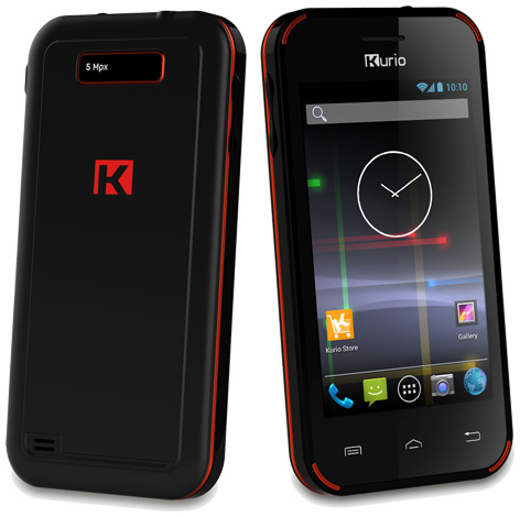 The front and back of the Kurio Phone