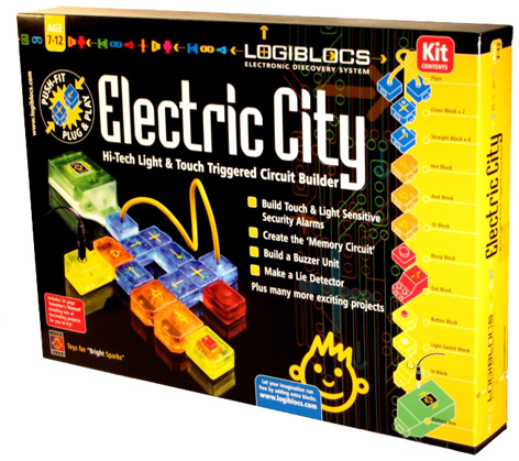 Packaging for Logiblocs' Electric City toy
