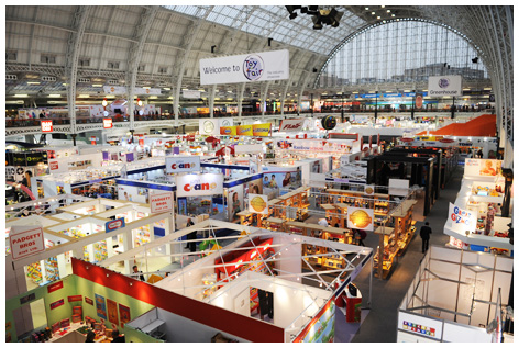 View of the London Toy Fair at Olympia