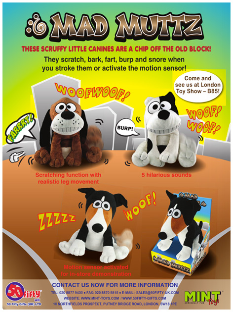 Mad Muttz advert from the trade press
