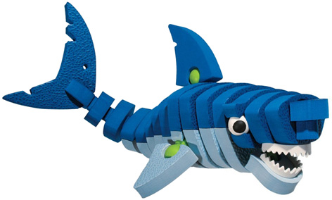 A Bloco Toy Shark from their Marine Creatures Set