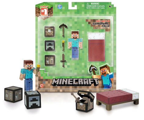 Minecraft Toys from Character Options and Spin Master