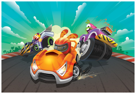 Moshi Karts artwork