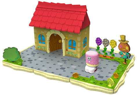 The Moshi Monster Bobble Bots Playset
