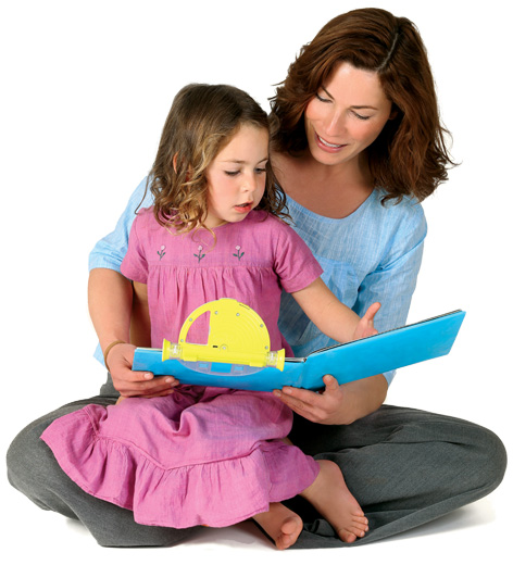 A mum and daughter using Sparkup