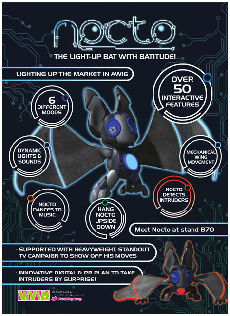 Nocto the bat toy trade advert