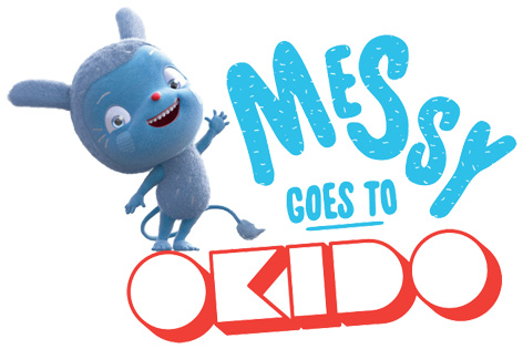 Official Messy Goes To Okido logo