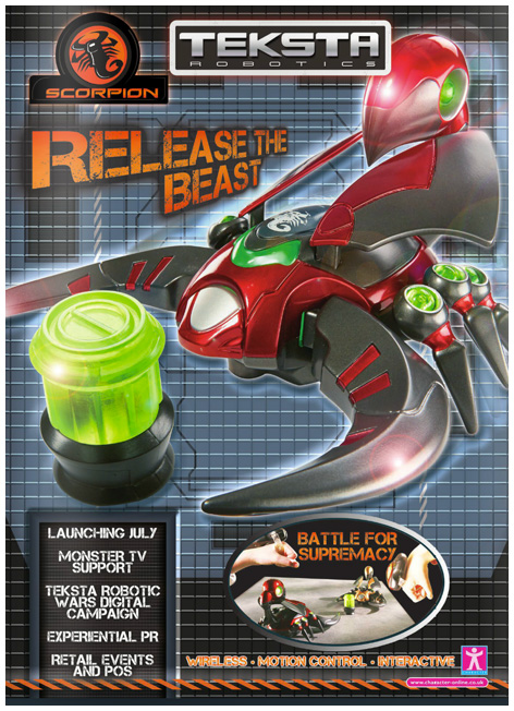 Official Teksta Scorpion Toy Trade Advert