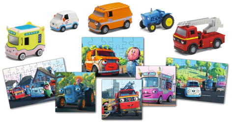 A selection of toys and puzzles from Olly The Little White Van