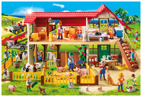Playmobil Puzzle and Playset