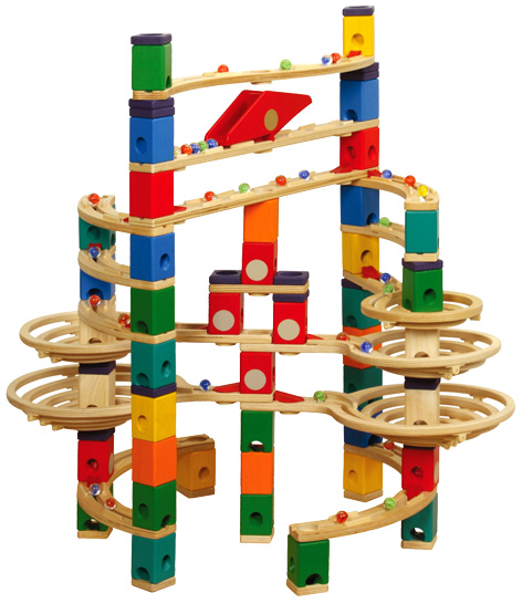 A Quadrilla Marble Run