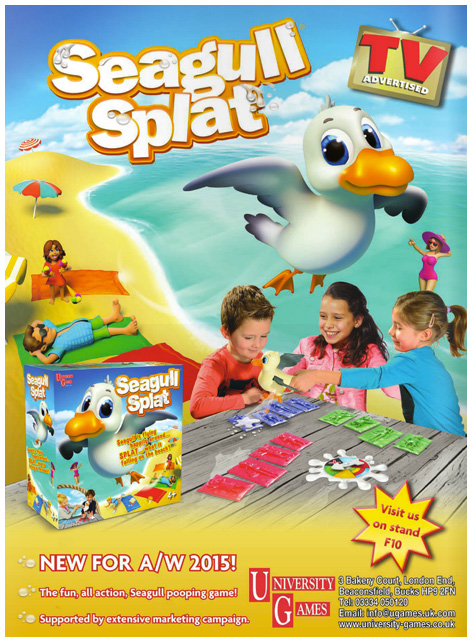 Seagull Splat trade show advert
