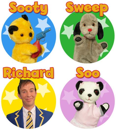 Sooty, Sweep, Soo and Richard