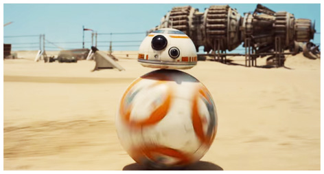 BB8 in the first teaser trailer for Star Wars: The Force Awakens