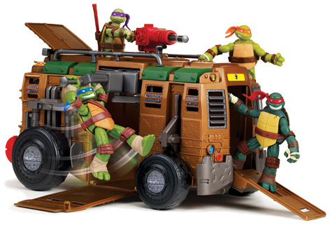 Teenage Mutant Ninja Turtles Riding On Shellraiser