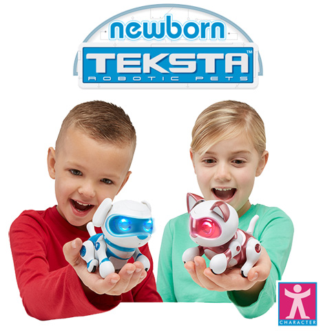 Blue and Pink Teksta Newborns