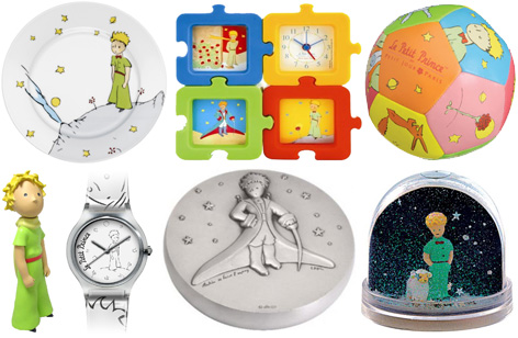 A selection of Little Prince merchandise