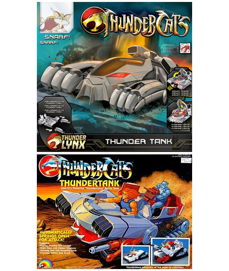 Comparison of the new and original toy packaging