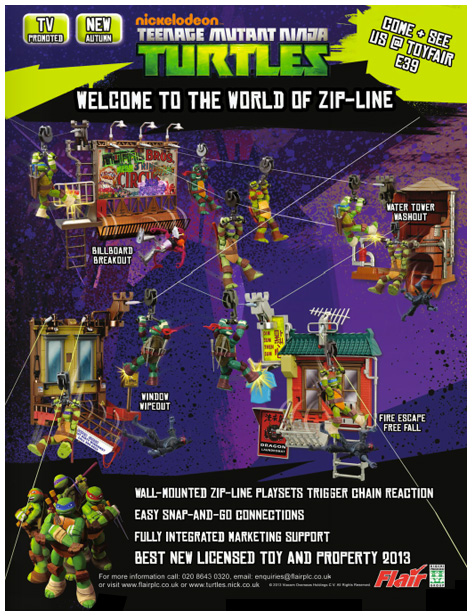Advert for the Turtles Zip-Line range
