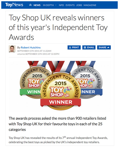 ToyNews's coverage of the 2015 awards