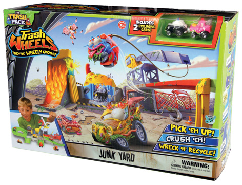 Trash Pack Wheels Junk Yard Packaging