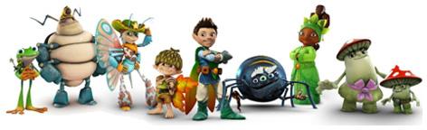 The main Tree Fu Tom characters