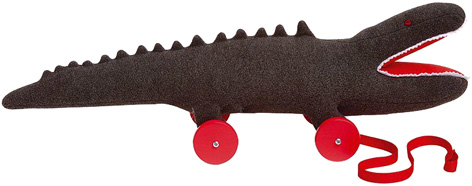 A soft toy crocodile from Trousselier