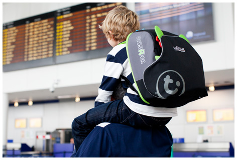 Trunki backpack at airport