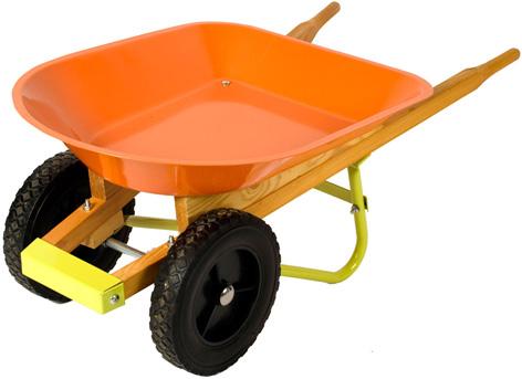 A toy wheelbarrow from Twigz Toys