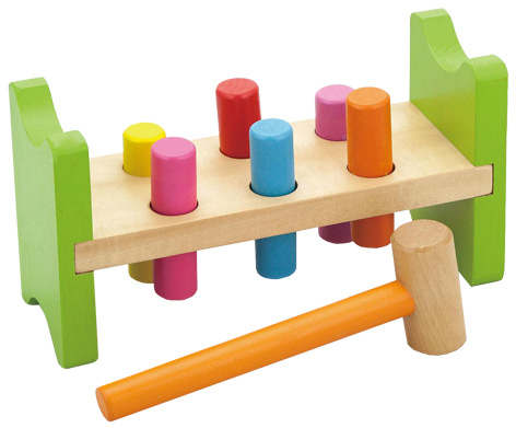 Wooden Pound A Peg toy from Viga