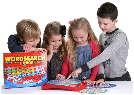 Kids playing with Wordsearch Junior
