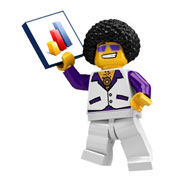 Disco Dude LEGO Minifigure