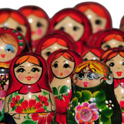 Traditional Wooden Matryoshka Dolls from Budapest