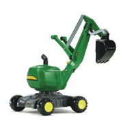 A Ride-On John Deere Digger from Rolly