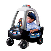 A Ride-On Police Patrol Car from Cozy Coupe