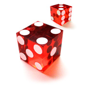 Translucent Red Dice