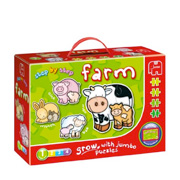 Step by Step Farm Jigsaw Puzzles for Toddlers from Jumbo Games