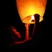 A Sky Lantern - The Ultimate Festival Toy