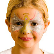 An Angel Face Using Snazaroo Face Paints