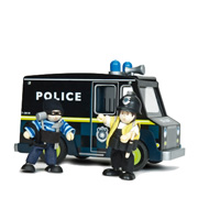 A Police Van with Cop & Robber from Le Toy Van