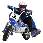 A Razor MX350 Dirt Rocket Electric Motorbike