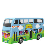A Moshi Monsters branded bus