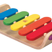 An Oval Toy Xylophone from Plan Toys