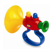 A Brightly Coloured Toy Trumpet for Toddlers