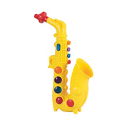 A Bright Yellow Toy Saxophone