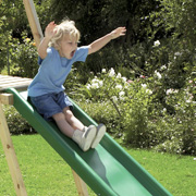 Young Boy on a TP Slide