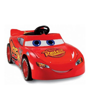 A Ride-On Lightning McQueen Toy Car