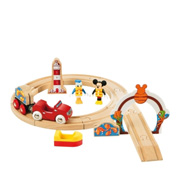 The Mickey Goes Fishing Wooden Railway Set from Brio